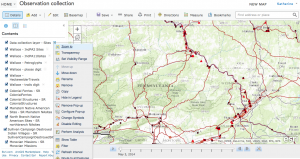 New ArcMap online interactive map for data collection