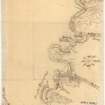 Johanna Ettwein's map of his journey to Friedenshütten, 1768 Unity Archives, Herrnhut, Germany