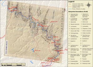 Emily Bitely '11 Map of the Upper Susquehanna