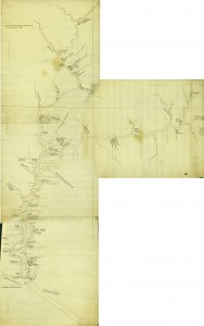 Joseph Shippen's Four Part Map of the Susquehanna River, 1756